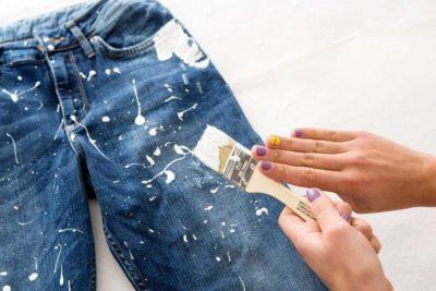 джинсы в краске